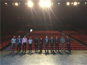 خبر-مدیر و کارشناسان عمرانی دانشگاه از پردیس تئاتر خاوران تهران بازدید کردند