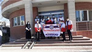 خبر-مشارکت کانون دانشجویی هلال احمر دانشگاه یزد در طرح ملی قرار مهربانی