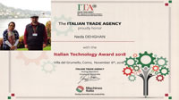 خبر-استاد و دانشجوی دانشگاه یزد برنده جایزه تکنولوژی 2018 ایتالیا شدند