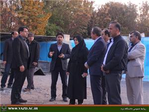 بازدید مدیرکل دفتر نوآوری و کسب و کارهای نوین از مرکز فناوری دانشگاه یزد