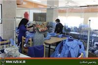 خبر-تولید لباس گان پزشکان و پرستاران به صورت خیریه در دانشگاه یزد